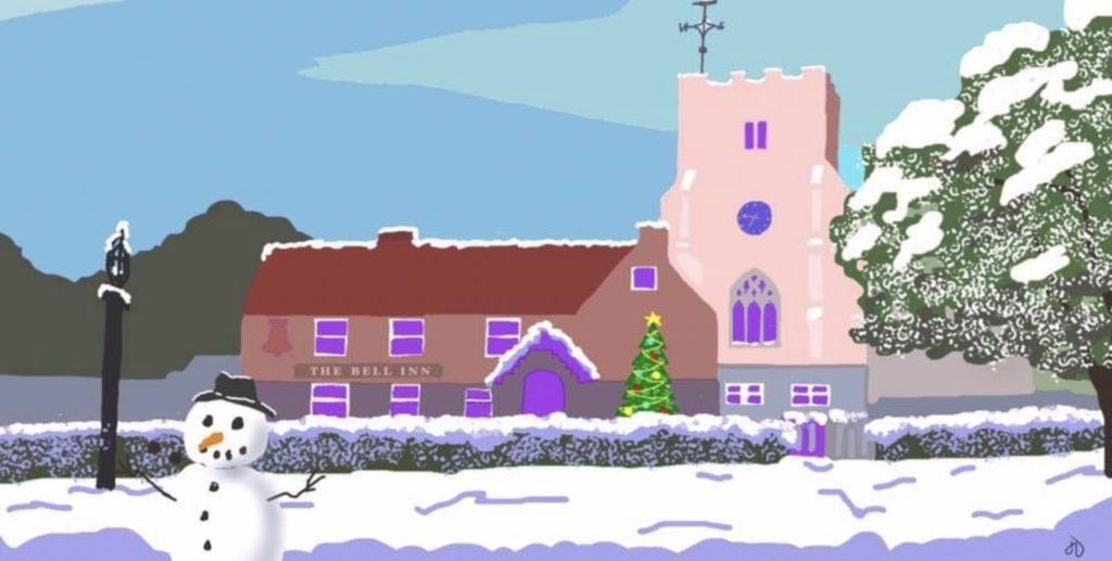 Ivychurch Christmas Drawing